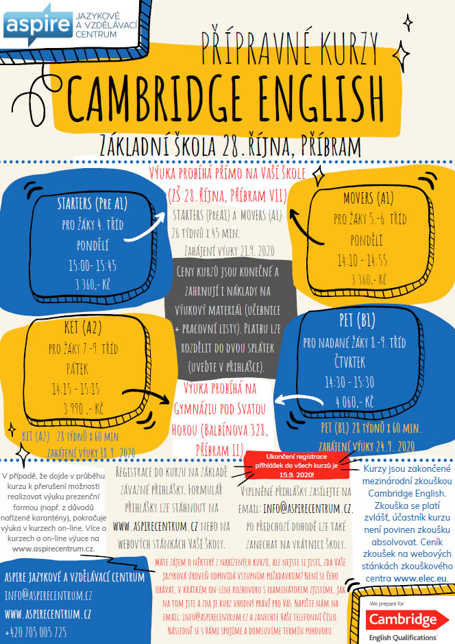 Nabídka Cambridge English
